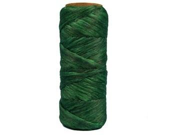 100 foot Spool of Emerald Green 1/8th wide 60 lb test Imitation Sinew