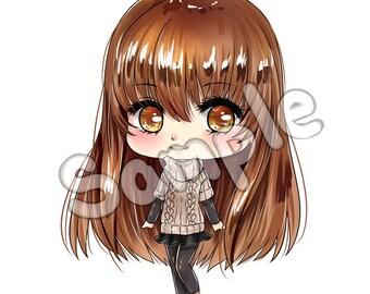 Mystic Messenger - MC (Main Character) Chibi Sticker!