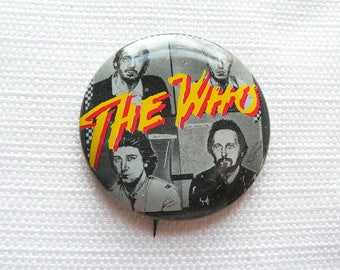 Vintage Early 80s The Who with Kenney Jones - Pin / Button / Badge