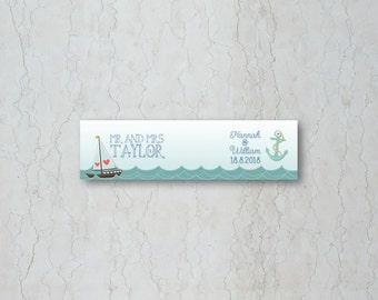Nautical Straw/Cupcake Flag