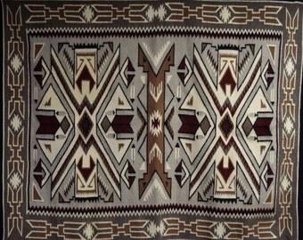 Native American, Vintage, Navajo Teec Nos Pos Weaving, Ca 1980's, #1080