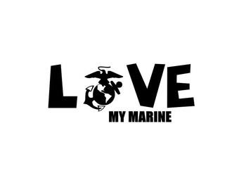 Love My Marine iron on, ega,ega iron on, Semper Fi, Fabric Iron On Transfer