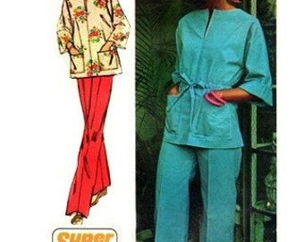 Simplicity 6469 Spunky Pullover Tunic Top and Pants / 1974 SZ16 UNCUT