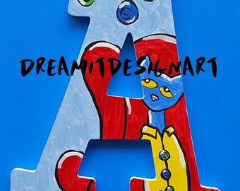 Pete the Cat Alphabet Wall Letters A