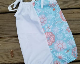 Bubble romper, baby girl romper, sunsuit, size 12-18 months, summer romper