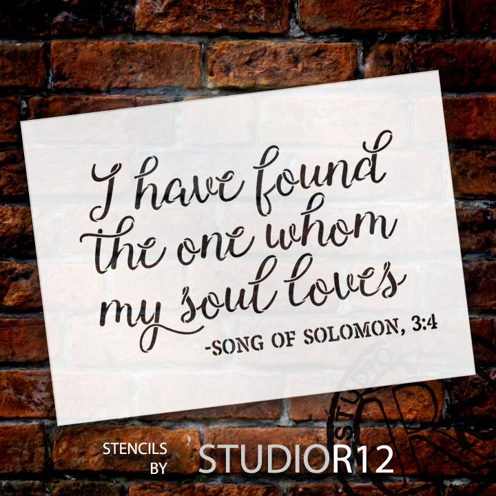 I Have Found the One - Word Stencil - Select Size - STCL1582 - by StudioR12