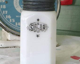 Vintage Hazel Atlas Milk Glass Sugar Shaker