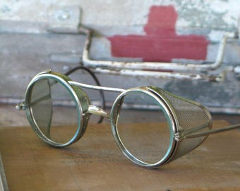 Antique Safety Glasses by American Optical Steampunk Look