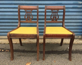 Vintage pair of accent chairs
