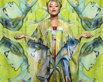 Disorder 'Android' Bamboo Silk Art scarf