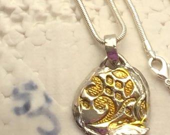 Silver Clay PMC3 pendant