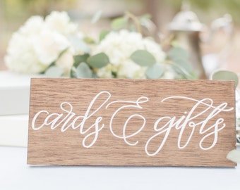 Wooden Cards & Gifts sign