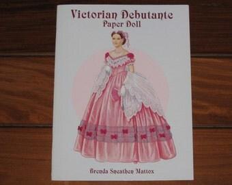 1997 Victorian Debutante Paper Doll Book by Brenda Sneathen Mattox (Uncut)