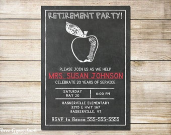 Teacher Retirement Invitation Teacher Retirement Party