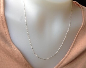 20 inch Sterling Silver Chain- 1.7mm sterling silver necklace, Sterling Silver, 925, silver chain, DIY, jewelry supply