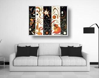 "Art reproduction - oil on canvas - Kandinsky - ""Stripes"""