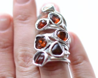 Amber rings // nickelfree// many sizes
