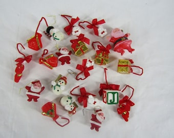 20 pieces of vintage Christmas felted ornaments
