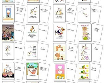Funny Birthday Card Assorted Pack of 24 Cards & 25 Envelopes - Assortment #2 Funny Cards - 721
