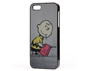 Banksy Charlie Brown Snoopy Phone Case to Fit the Apple iPhone (all models)