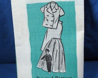 Vintage Sewing Pattern 4851 Misses Jacket and Two Skirts Size 16