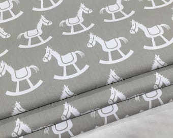 Custom Made Rocking Horse Roman Blind 120cm wide x 120cm drop. Available in 2 colours. Lined and Interlined