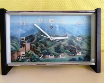 Réveil/Pendulette vintage 60s Grande Muraille de Chine