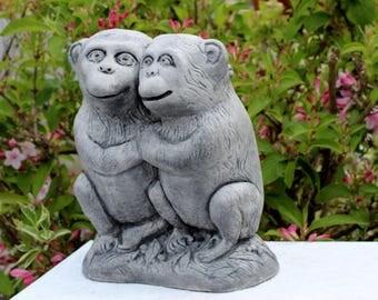 Monkey Statue Etsy