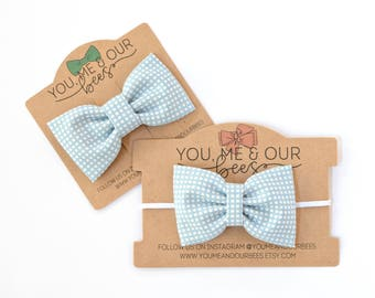 Bow Tie Sibling Set; Matching Bow Tie and Headband; Boys Bow Tie; Matching Bows; Sibling Bows; Baby Bow Tie; Clip On Bow Tie