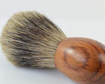 Badger Shaving Brush Mens Shaving Wood Wooden Anniversary Gift