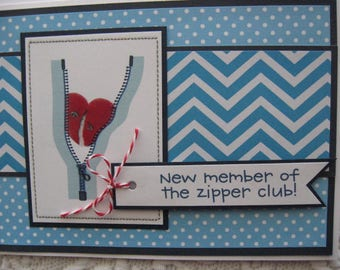 Family or friend having open heart surgery? This funny get well card will give them a laugh. The zipper Club, not a club they wanted to join