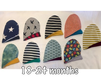 RTS Reversible Slouchy Beanies 18-24 months