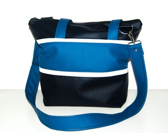"Everyday tote bag ""Lea"" - messenger bag, nautical style"