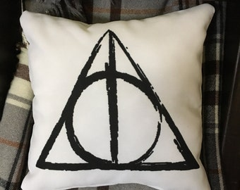 Harry Potter Deathy Hallows Decorative Pillow - Throw Pillow Cover with zipper closure
