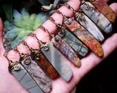 Picasso Jasper necklace, Picasso  jasper bar necklace,   gemstone necklace,  picassso