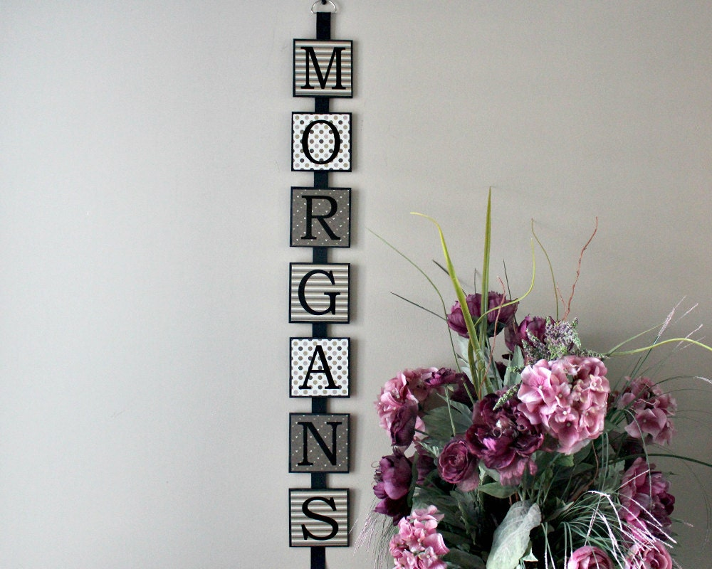 Wood Name Wall Decor : Personalized last name wall art family wooden