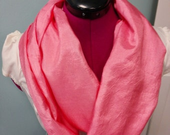 """Chinese Silk Infinity Scarf 72"""" double loop Spring Colors Lightweight"""