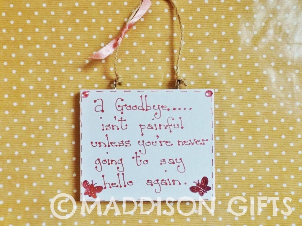 Farewell Quote Plaque Hanging Wall Decor Ornament Family Friends ...