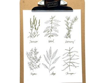 Herbs 8x10 Print