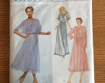 Vogue 2125 American Designer Albert Nipon Frilly Dress Gown Pattern Sz 14 10 Uncut Pattern
