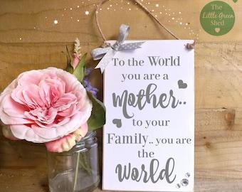 Mum Mother Plaque Nan Grandma Sign Mothers Day