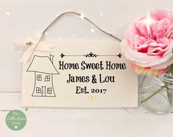 New Home Housewarming Plaque Sign Personalised Gift Family Friend Keepsake