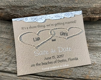Beach Save the Date, Sand Save the Date, Destination save the date