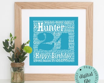 Personalised 21st BIRTHDAY GIFT - Personalised Gift - 21st - Gift for her - Printable Gift - Bespoke Gift - Gift for Him - 21st Birthday