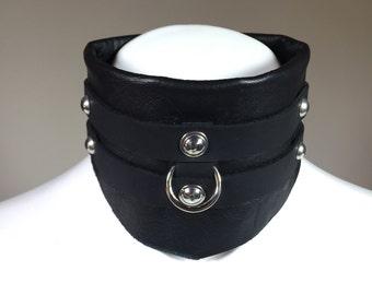 Handmade adjustable height wrap choker
