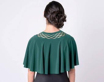 Green Capelet, Women Bolero Dress cover, Green Cover, Special Bolero, Green Shawl, Women Dress Cover, Evening Dress Cover, Green Womens wear