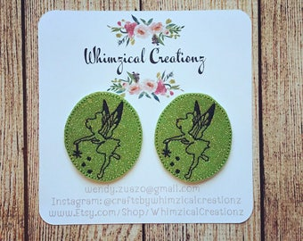 Fairy Tink Silhouette Shoe Clips