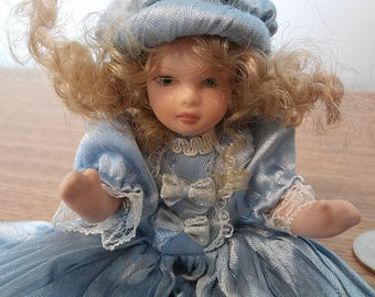 Vintage Little Porcelain Doll
