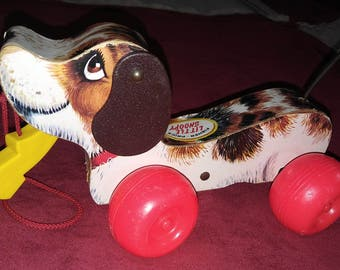 1965 Fisher Price Little Snoopy Pull Toy
