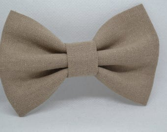 Linen Taupe bow tie - Men's bow tie - Child bow tie - Baby bow tie - Taupe linen bow tie - Wedding - Rustic - Gift for him - Gift for men